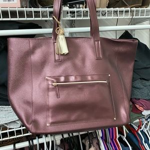 maroon brand new tote from bath and body works!